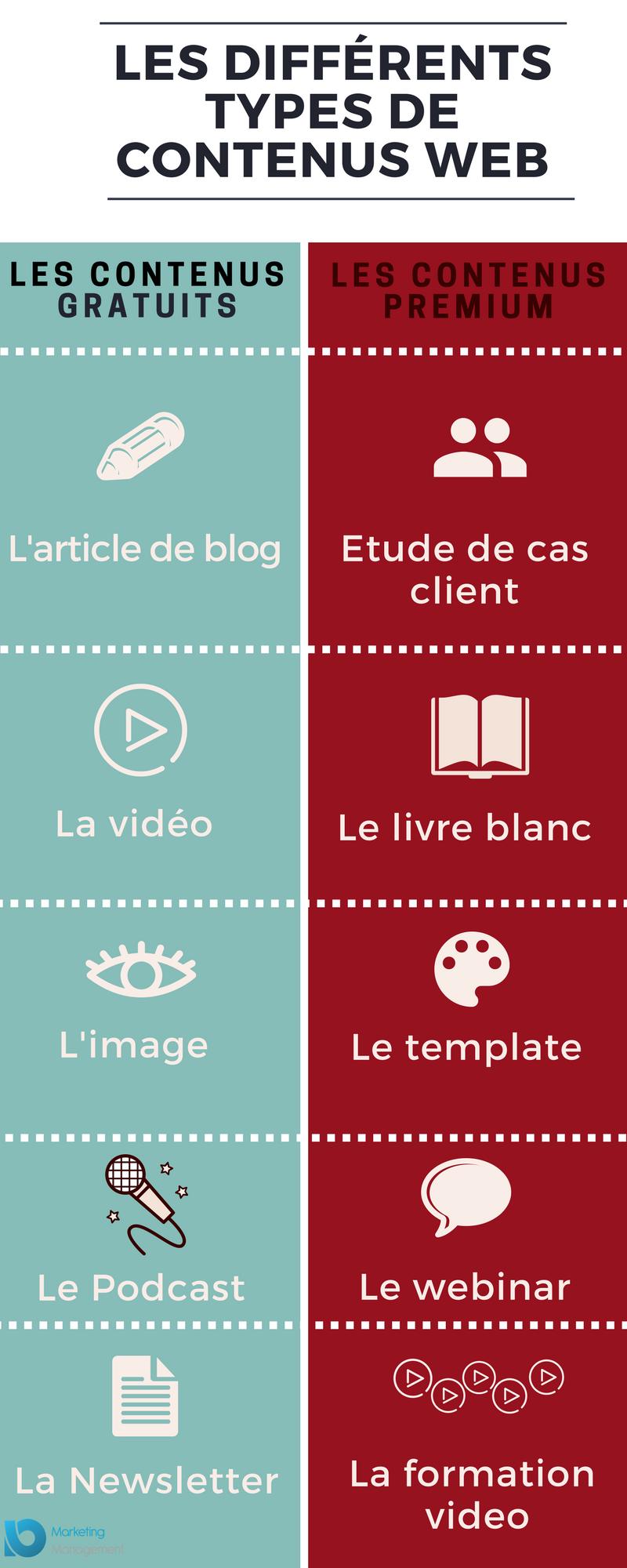 contenu web infographie Marketing Management Io