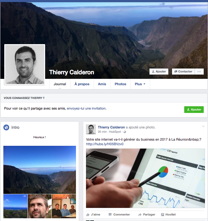 réseaux sociaux  à la reunion facebook