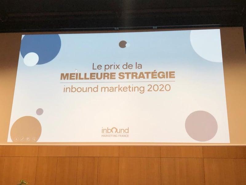 1er prix de la meilleure stratégie Inbound Marketing